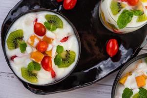 vers fruit en yoghurt