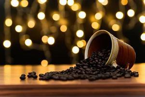 koffiebonen op het bureau