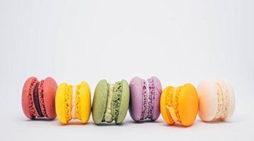 kleurrijke macaron gebakjes