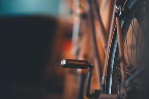 close-up van een fietspedaal