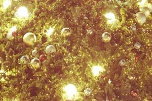 gouden kerstdecor foto