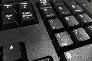 close-up van een zwart toetsenbord