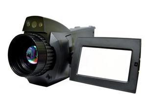 een thermografische camera is een apparaat dat een warmtezone vormt foto