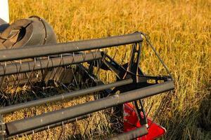 close-up van een oogstmachine