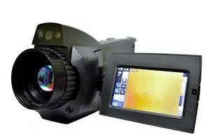 een zwarte videocamera foto