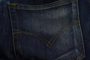 textuur van jeans zak close-up, achtergrond.