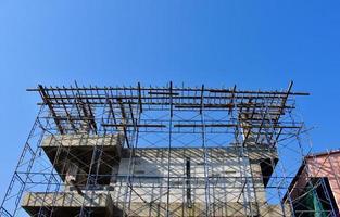 gebouw in aanbouw