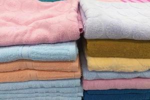 close-up van handdoeken foto