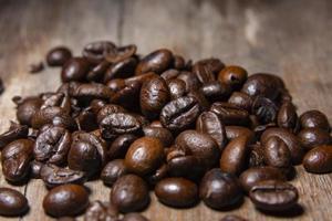 geurige gebrande koffiebonen foto