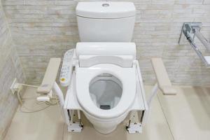 toilet met bidet foto