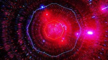 donkere gloeiende neondeeltjes 3d illustratie achtergrondbehangkunstontwerp foto