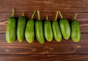 rij komkommers foto