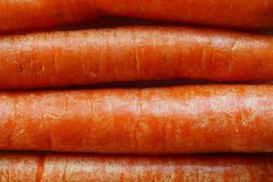 rauwe oranje wortelen foto