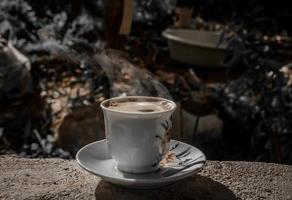 's ochtends koffie thuis