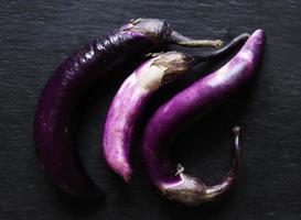 paarse Japanse aubergines foto