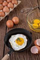 gebakken ei ontbijt
