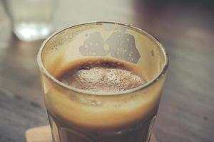 close-up van glas koffie