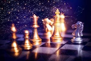 schaakbord afbeelding foto