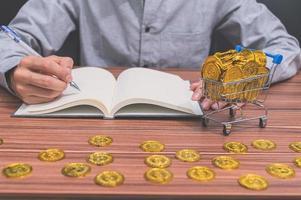 zakenman met munten