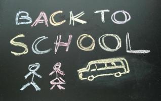 schoolbord terug naar school foto