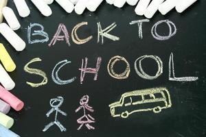 terug naar school met krijt foto