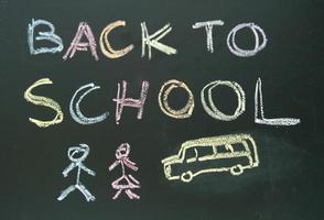 schoolbord schrijven terug naar school foto