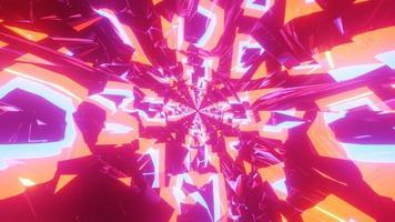 gloeiend abstract neon tunnel 3d illustratie ontwerp kunstwerk achtergrondbehang foto