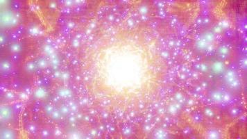 oranje helder gloeiend sci-fi ruimtedeeltje melkweg 3d illustratie achtergrond behang ontwerp kunstwerk foto