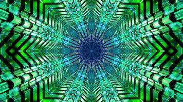 knipperend groen en blauw stervormig 3d illustratie achtergrondbehangontwerpkunstwerk foto