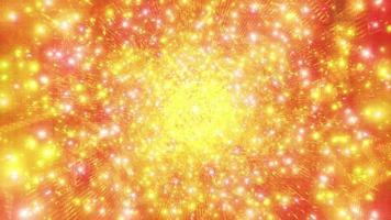 oranje science fiction ruimte melkweg deeltjes 3d illustratie achtergrond behang ontwerp kunstwerk foto