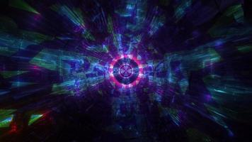 koele donkere tech tunnel 3d illustratie achtergrond behang ontwerp kunstwerk foto