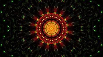 knipperende abstracte bloem geel en rood 3d illustratie achtergrondbehang foto