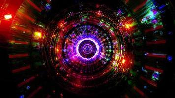 abstracte reflectie neonlichten gloeiende kleuren 3d illustratie achtergrond behang ontwerp kunstwerk