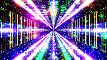 gloeiende sci-fi ruimte tunnel deeltjes 3d illustratie achtergrond behang ontwerp kunstwerk foto