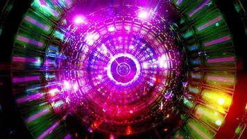 abstracte reflectie neonlichten gloeiende kleuren 3d illustratie achtergrond behang ontwerp kunstwerk foto