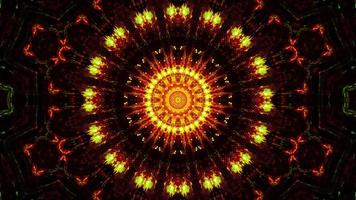 knipperende abstracte bloem geel en rood 3d illustratie achtergrond behang ontwerp kunstwerk foto