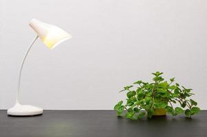 lamp op het bureau
