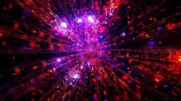 gloeiende ruimte deeltjes melkweg 3d illustratie achtergrond behang ontwerp kunstwerk foto