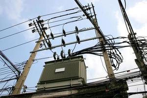 transformator op hoge krachtcentrale foto