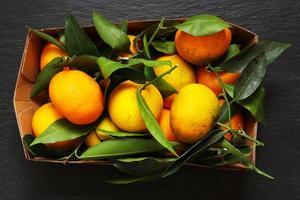 clementines in een mand foto