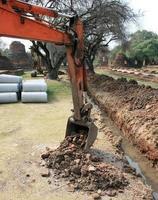 tractor en grond