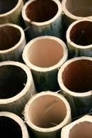 close-up van gesneden bamboe foto