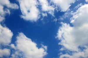 blauwe hemel met witte wolkenachtergrond