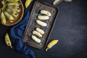 bananenfruit en honing gezond voedsel foto