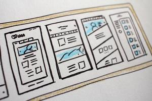 website lay-out doodles foto
