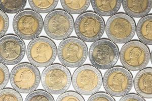 munten op witte achtergrond