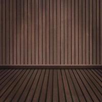 lege houten vloer en kamer