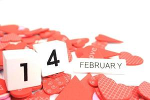 houten kalender 14 februari blokken