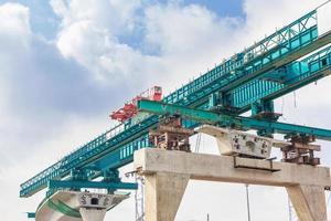 groene brug in aanbouw