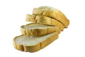 stapel brood op wit